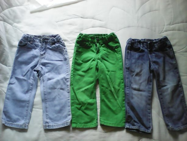 7 pares de calças para criança, 2A