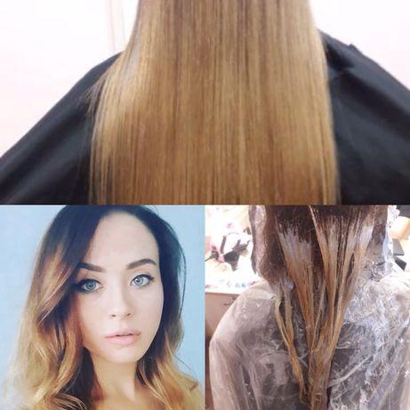 Парикмахерские услуги, макияж, перманентный макияж (бровки, стрелки)