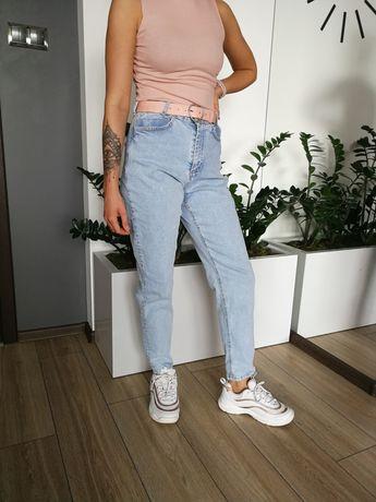 Spodnie Mom Jeans jasne