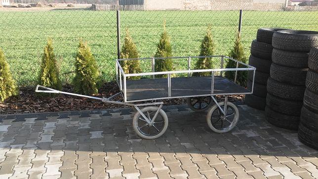 Wozek taczka ogrodniczy transportowy woz przyczepka