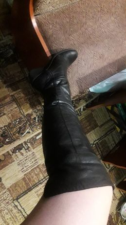 Сапоги,ботфорты,кожаные.