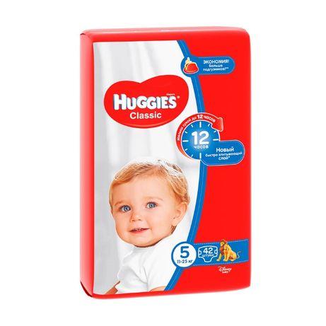 Подгузники Huggies Classic размер 5, 11-25 кг, 42 шт