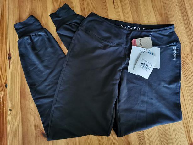 Nowe damskie dresy spodnie sportowe Reebok czarne