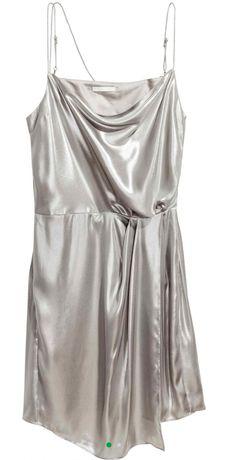 Серебристое платье H&M