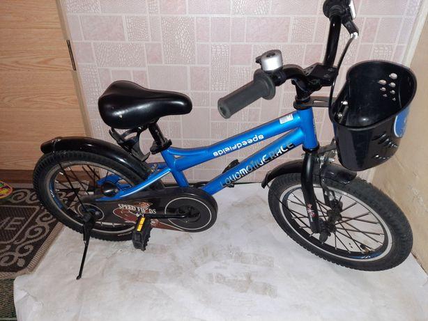 Велосипед детский синий