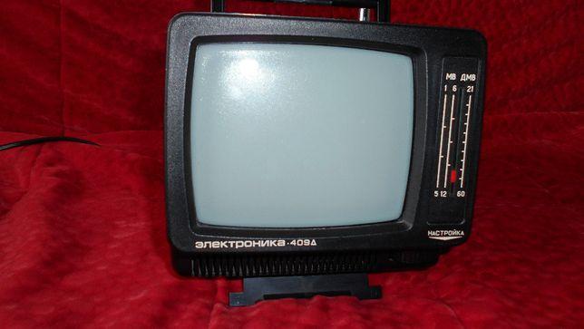 Telewizor elektronika 409 przenośny czarno /biały + zielistka