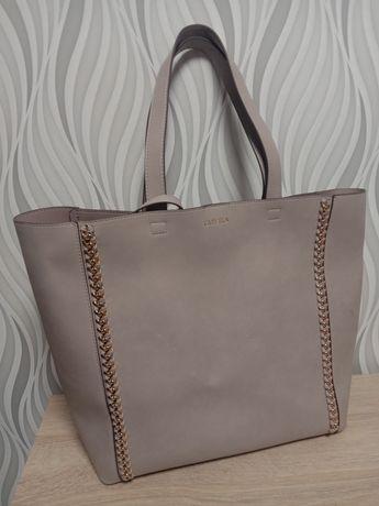 Carvela пудровая сумка шопер с вкладышем