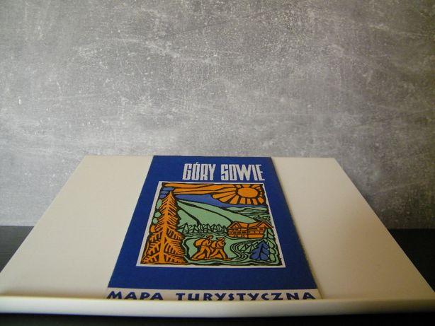 mapa turystyczna - Góry Sowie