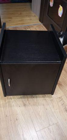 Szafka organizer na kółkach czarna kontenerek GxSxW 47x44x51