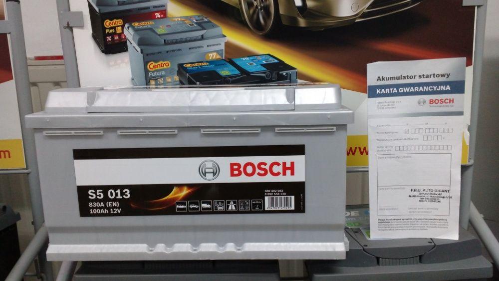 Akumulator Bosch S5013 H3 100Ah 830A CA1000 dowóz montaż Kraków Azory Kraków - image 1