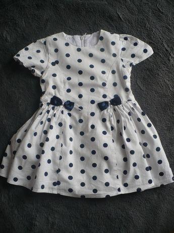 Sukienka w kropki rozmiar 80