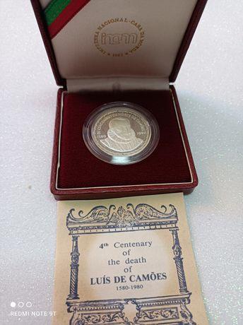 Moeda prata 4 centenário de Camões