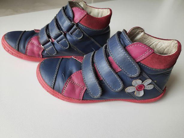 Trzewiki skurzane buty - jesienne rozm. 31 32 wkladka 20cm