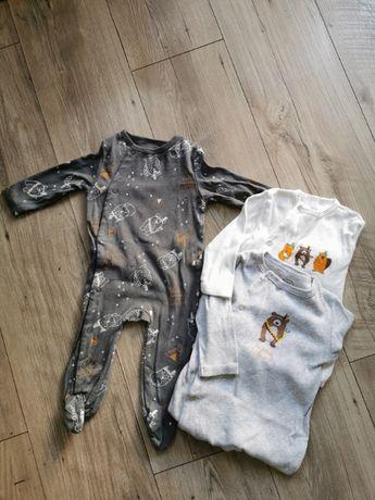 Pajacyki dla chłopca śpioszki niemowlęce 3-pack Smyk 68