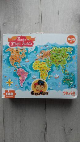puzzle czu czu mapa świata