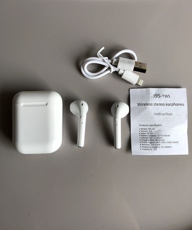 Słuchawki bezprzewodowe i9s Tws Bluetooth 5.0 iPhone, Xiaomi, Samsung