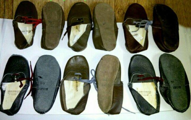 Чешки новые натуральная кожа на шнурках 16 и 17см стелька Борьба Танцы