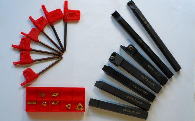Noże tokarskie składane na płytki 12x12 komplet 7 szt. OUS-1 TSA-16