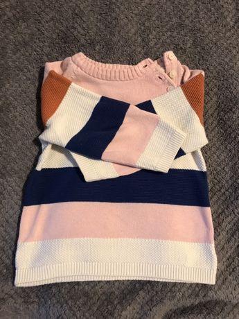 Sweterek w paski H&M r 86