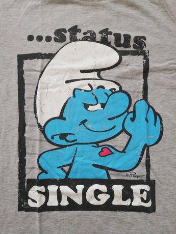 House Status Single Smerfy koszulka t-shirt męski szary rozmiar L