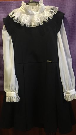Шкільна форма( сарафан+блузка)ріст122