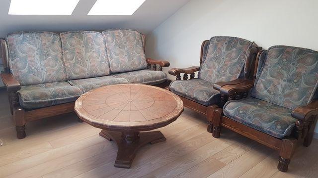 Sprzedam meble holenderskie - kanapa, 2 fotele i stół