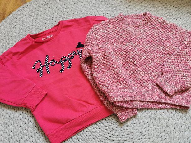 Bluza sweter 98 różowa happy