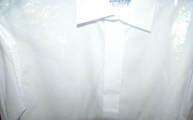 Koszula męska na spinki biała 182/188 rozmiar 42