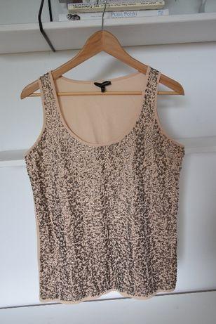 Kappahl Bawełna bluzka bluzeczka top cekiny basic koszulka