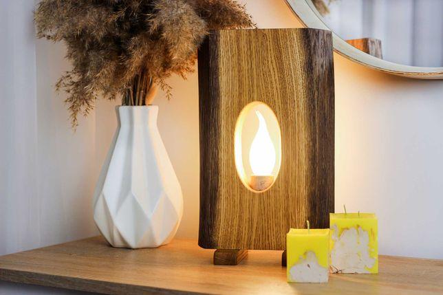 Светильник настольный, лампа деревянная, ночник
