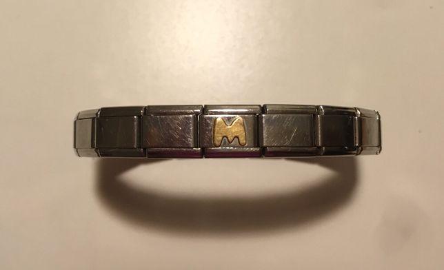 pulseira nomination com letra M