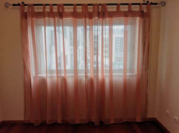 Varão em ferro + cortinados