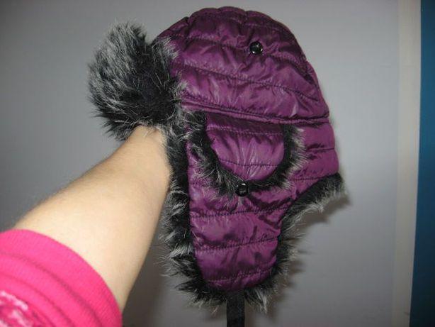 czapka zimowa naraciarska snowboardowa fioletowa S/M