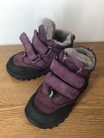 Ботинки Woopy на девочку 24 размер кожа, зима