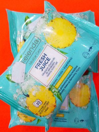 Chusteczki micelarne odświeżające do demakijażu Bielenda