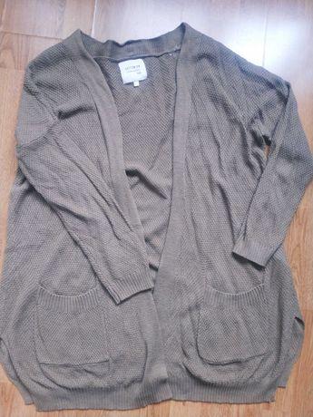 Sweter/kardigan khaki Cotton:On rozm. M, stan idealny