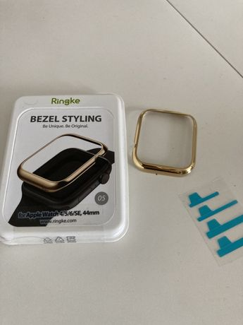Etui ramka do AppleWatch 44 mm gold złota