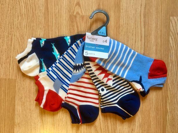 Яркие короткие носки, набор носков для мальчика Nutmeg, р.37-39