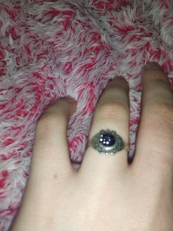 Авантюрин кольцо серебрянное космос черный камень