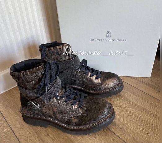 Ботинки Brunello Cucinelli, новые , размер 37, кожа, полный комплект
