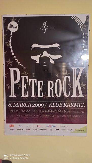 Plakat z Koncertu Pete Rock Rok 2009 - Klub Karmel - Bez autografu