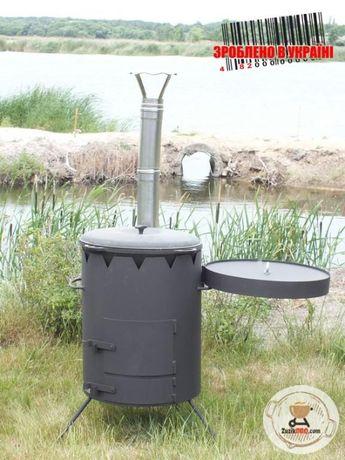 """Печь под 22-30 литровый казан """"Маричка"""" 500мм. с дымоходом/трубой"""