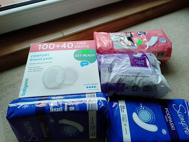 Wkładki laktacyjne podkłady higieniczne