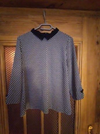 Lekka bluzka damska czerń biel 40 42 L XL Reserved