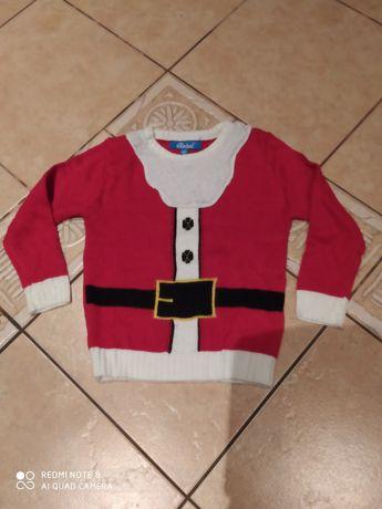 Sweter, sweterek Mikołaj 4-5 lat 110