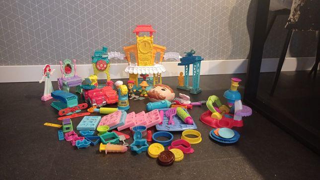 Wielki zestaw Play Doh - dentysta, city, babeczki, Ariel i inne