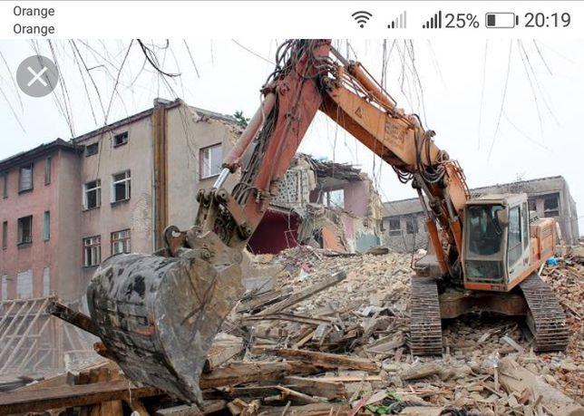 Wyburzenia wyburzenie stodoły domy garaże wywóz gruzu ziemi