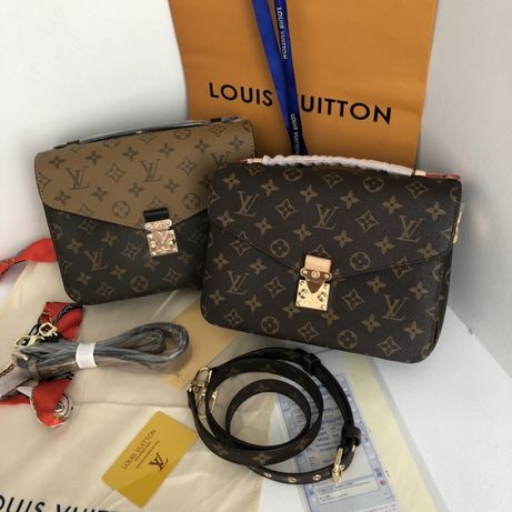 Сумка Луи Витон, клатч Louis Vuitton, Metis Метис кожаная