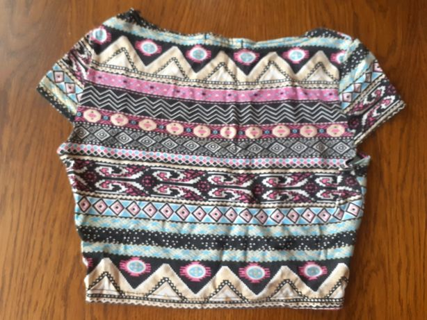 Crop top XS aztecki