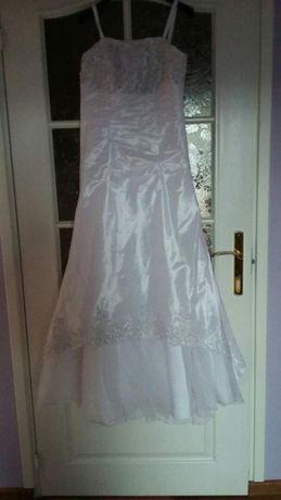 Suknia ślubna biala rozm 36-38 +bolerko